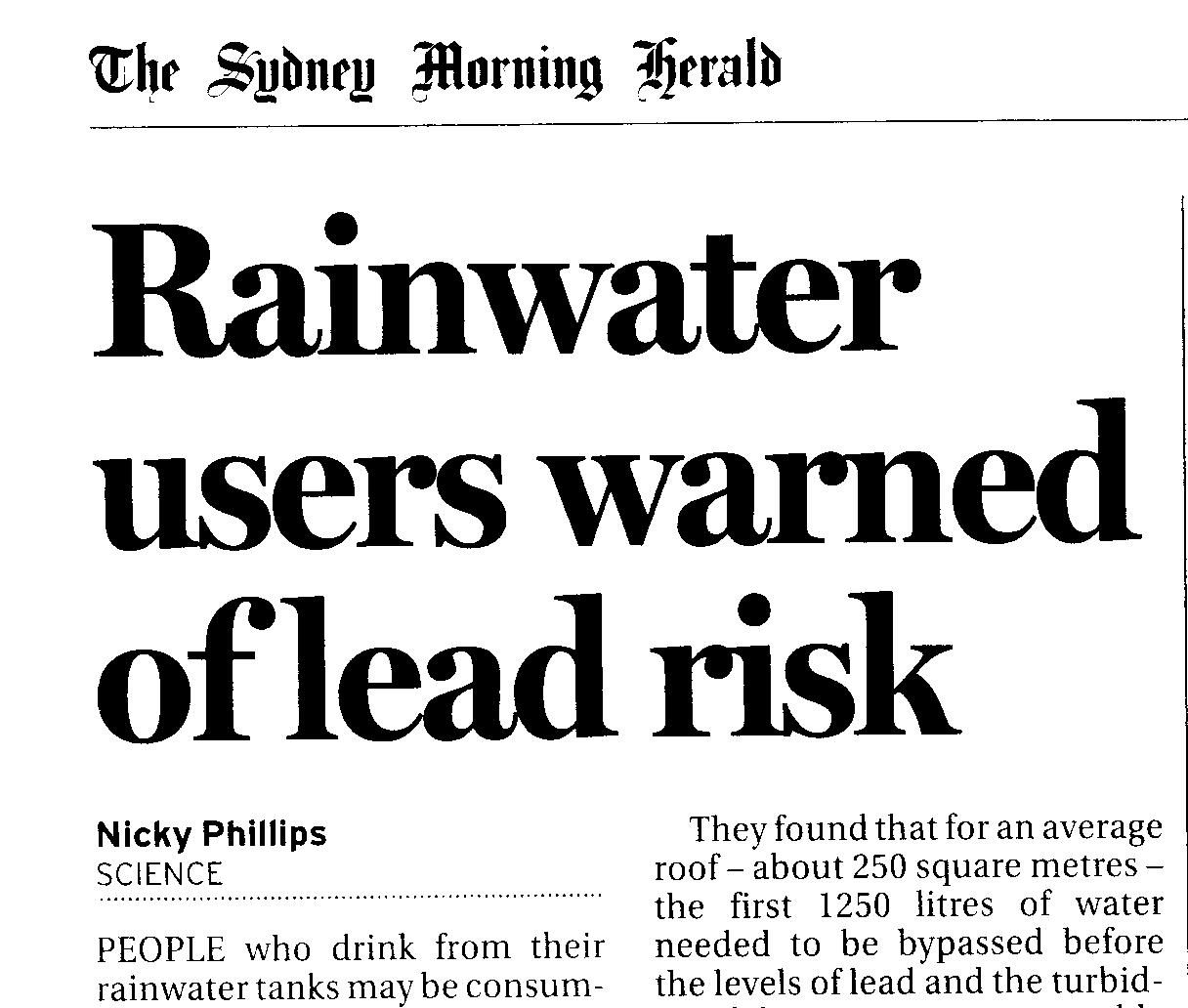 Australian Drinking Water Guidelines Ph