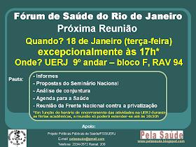 forum de saude Rio de Janeiro