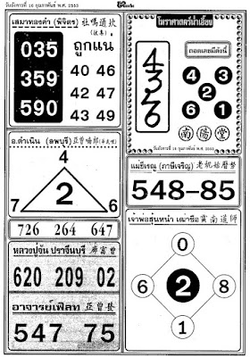 Thai Lotto Paper Tip 16-02-2010