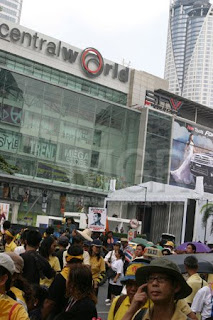 Protesters Rally at Central World