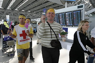 Tourists at Bangkok Airport