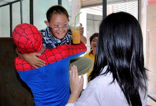 Thai Spiderman rescues Autistic school kid