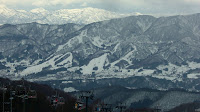 Clear mountains at 野沢温泉 (Nozawa-onsen)