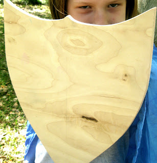 wooden play shield