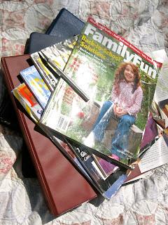 organize magazines