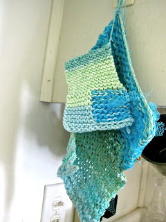 knitting dishcloth