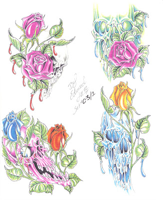 This is the Tattoo Flash Ed Lee Set 5's content: