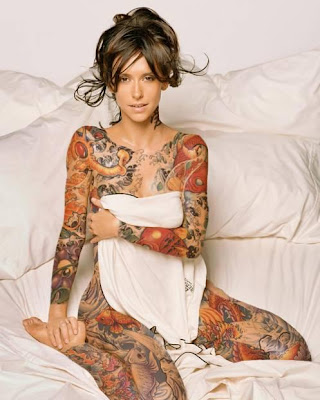 Sexy Model with Beautiful Tattoos