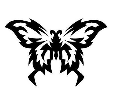 Butterfly Tribal Tattoo Design Picture 2