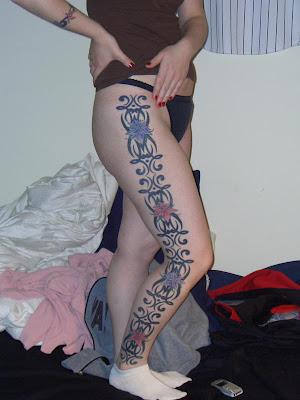 Woman Tattoo Sexy,Body Art Tattoo on Body Woman