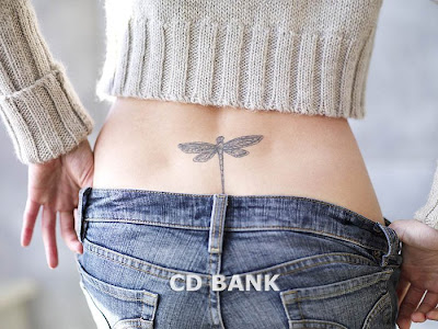 dragonfly women tattoos lower back sexy girls