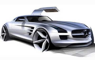 Confirms 526 HP Fully Electric Gullwing, Mercedes-Benz