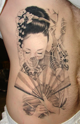 geisha rib tattoo design ideas