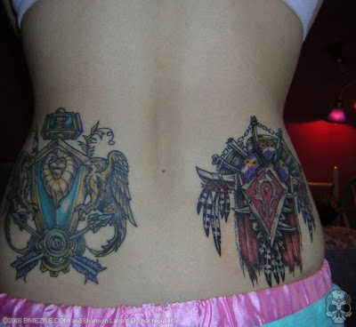 Lower Back Tattoo Popular, World Of Warcraft Tattoo