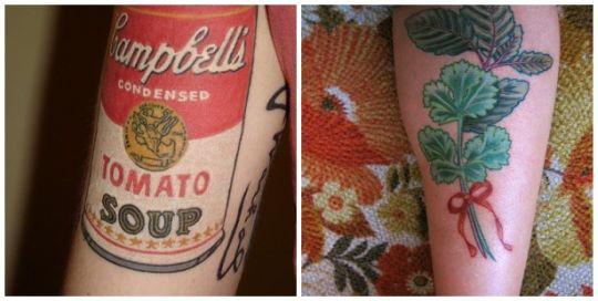 tattoos food, tattoo art on body, food tattoo popular, burger tattoo