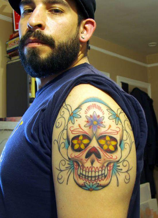 day of dead skull tattoo designs. tattoo day of dead skull