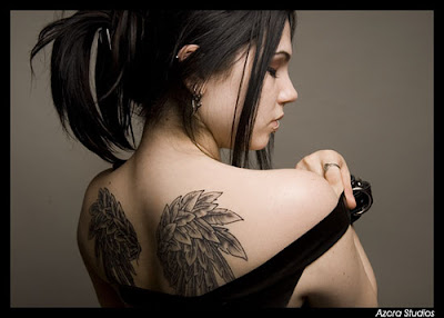Wing Tattoo, sexy girls tattoo, angel wing tattoo