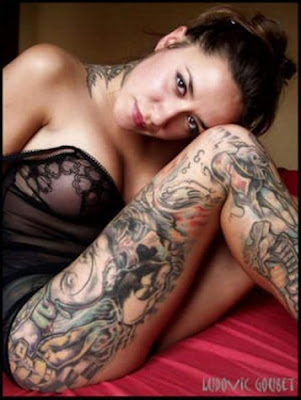 nude tattooed girls. full body tattoo sexy girls,