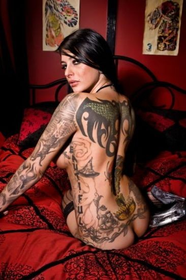 full body tattoo sexy girls, women tattoo design on body