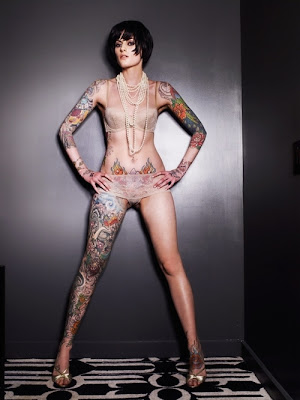 full body tattoo, women  sexy girls, woman show sexy tattoo ,full body tattoo-002
