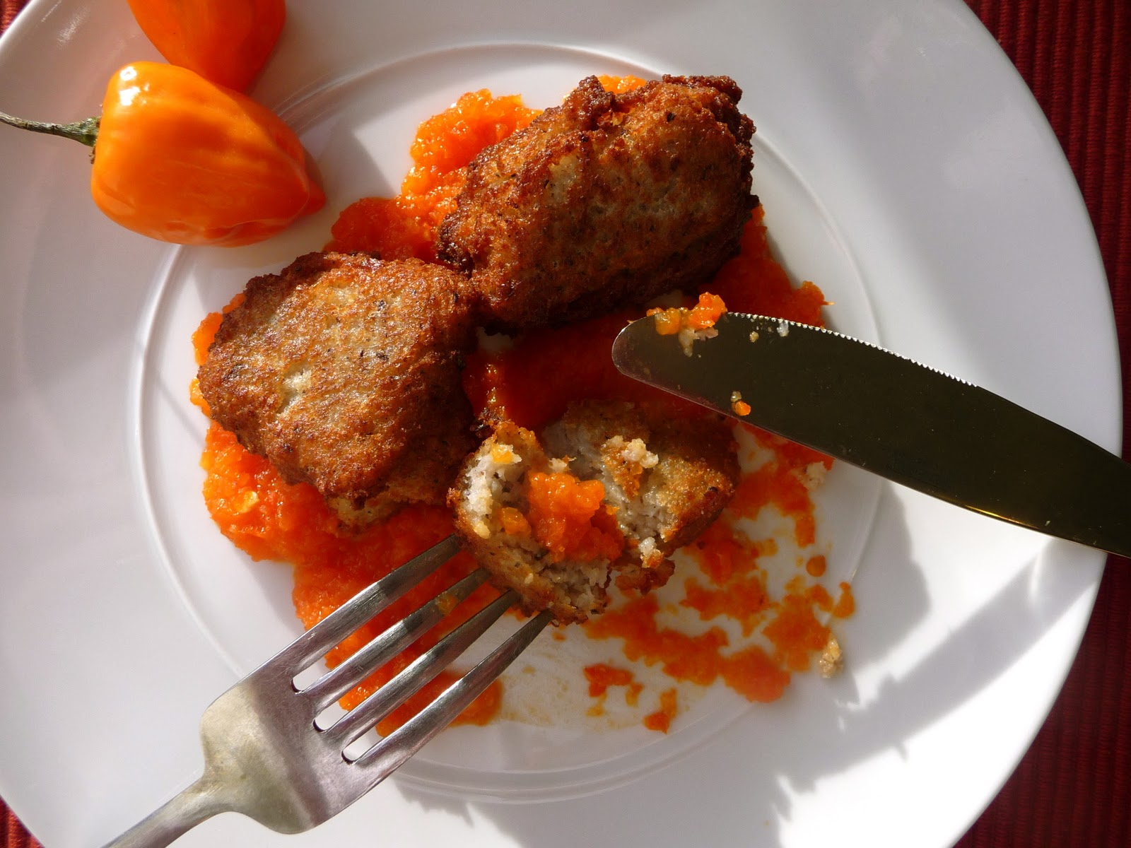 ... : Black Eyed Pea Fritters with Habanero and Red Pepper Relish