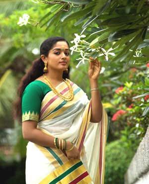 kavya Madhavan saree nature