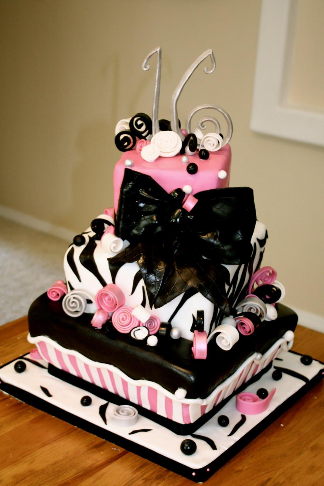 bumble cakes: sweet sixteen zebra cake!