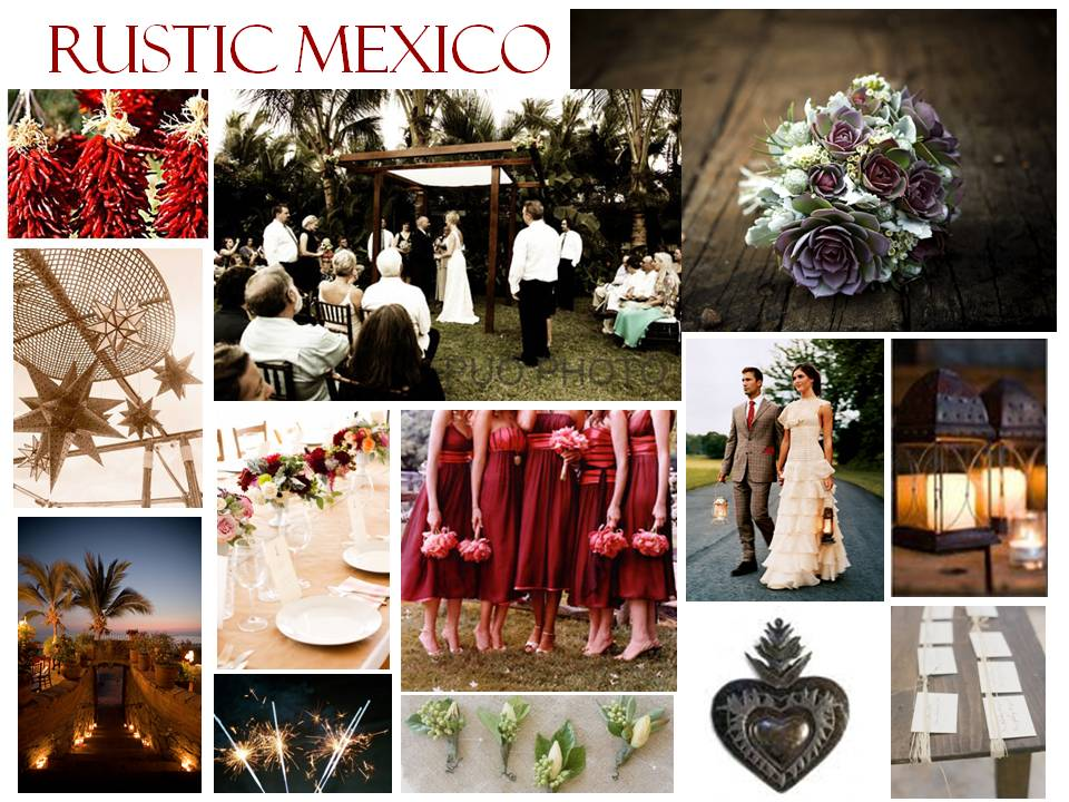 Destination Wedding for a rustic Mexican wedding I had to include it