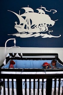 Nautical by Nature blog: Nautical pirate nursery