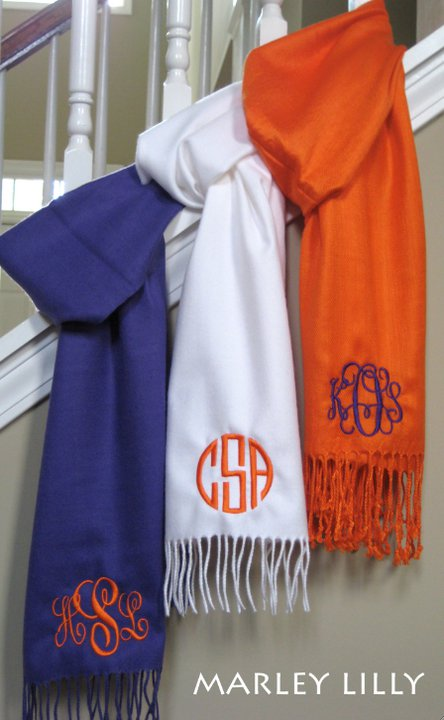nautical by nature  marley lilly monogrammed scarf giveaway
