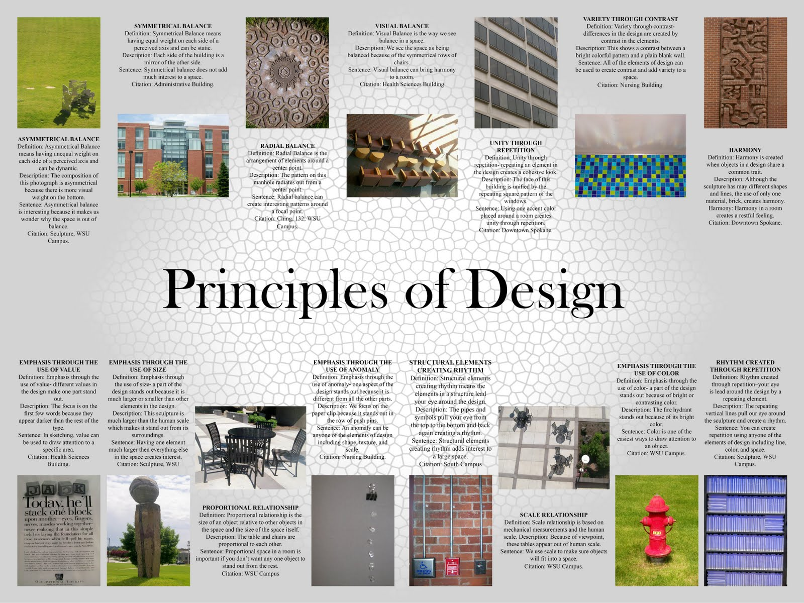 Different Principles Of Design : Shannon stewart elements and principles of design
