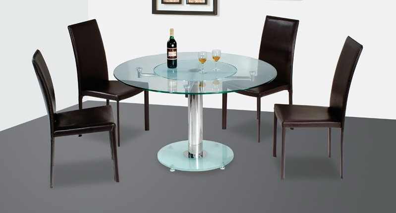 Furniture Design Styles Modern Round Glass Dining Table