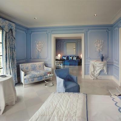 decoracao azul e branco