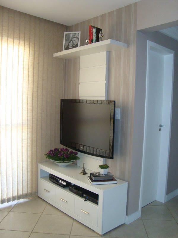 Decoracao De Sala Com Tv Na Parede ~ Lugar da TV Antes e Depois  Decoração do quarto