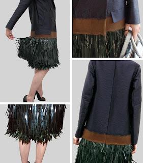 Prada | Blue Sequin | Designer | Coat