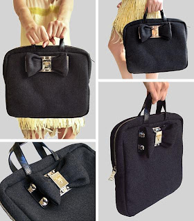 Prada | Black Folder | Designer | Handbag