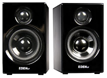 Eden LF Q8 Piano Black Active Multi Media Speakers: