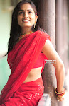 Telugu Actress Madhavi Latha Navel Show in Saree