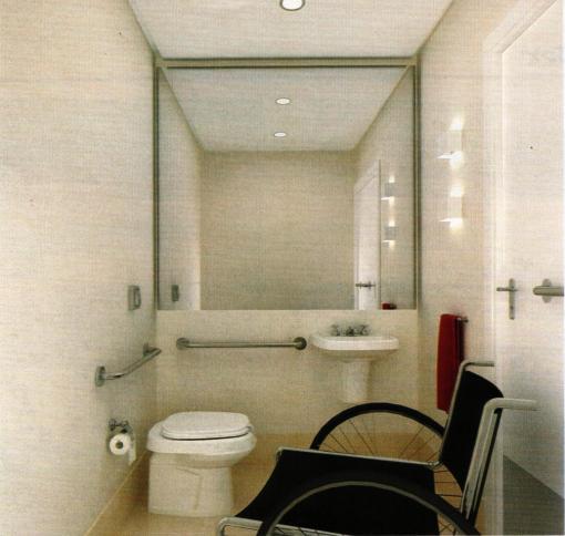 Lavabo para cadeirante deficiente ciente for Medidas de lavabos