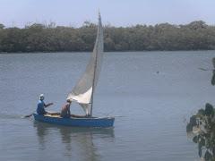 Barco no rio Jaguaribe