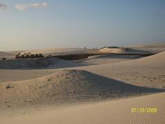 Vista dos Sítios Arqueológicos nas dunas do Cumbe