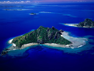 Aerial View of Monu Island, Fiji