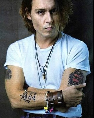 johnny depp tattoos. Male Celebs Inks