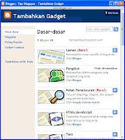 Cara Memasang Widget Blogspot
