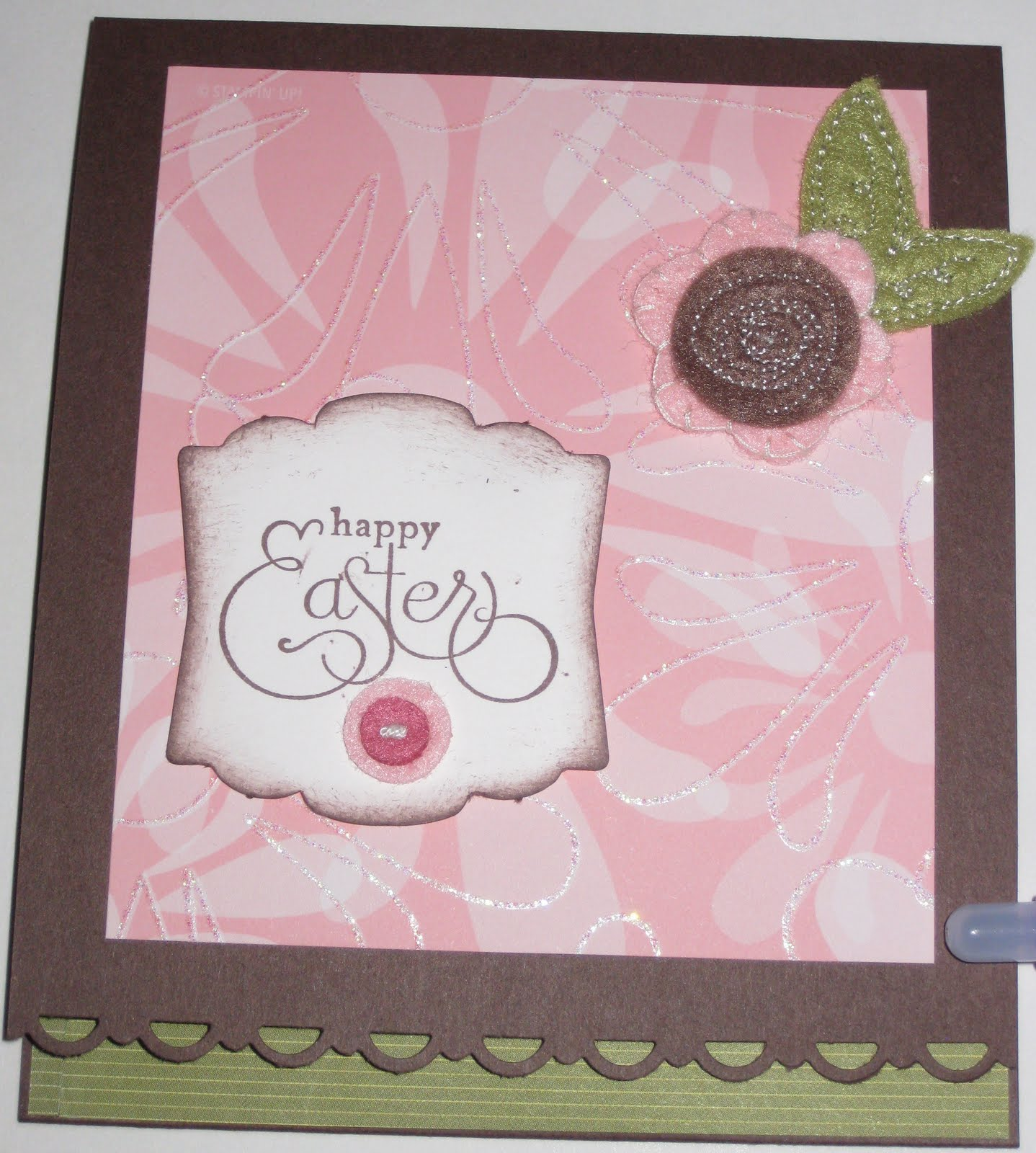 Wish I Was Stampin Sweet Pea Stitched Felt Cards