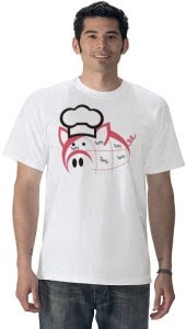 Tasty Pork Pig with Chef Hat T-Shirt by cookingclipart