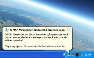 Desabilite os balões de aviso do Windows XP