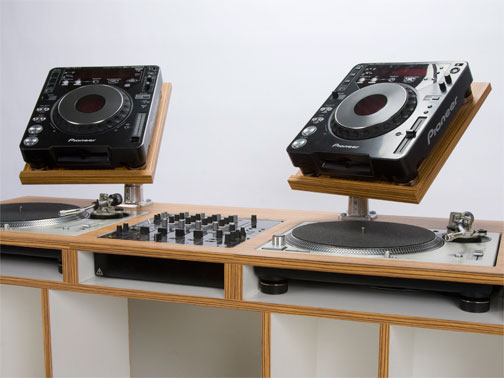 dizzyjockey dj table lifestyle furniture by dual. Black Bedroom Furniture Sets. Home Design Ideas