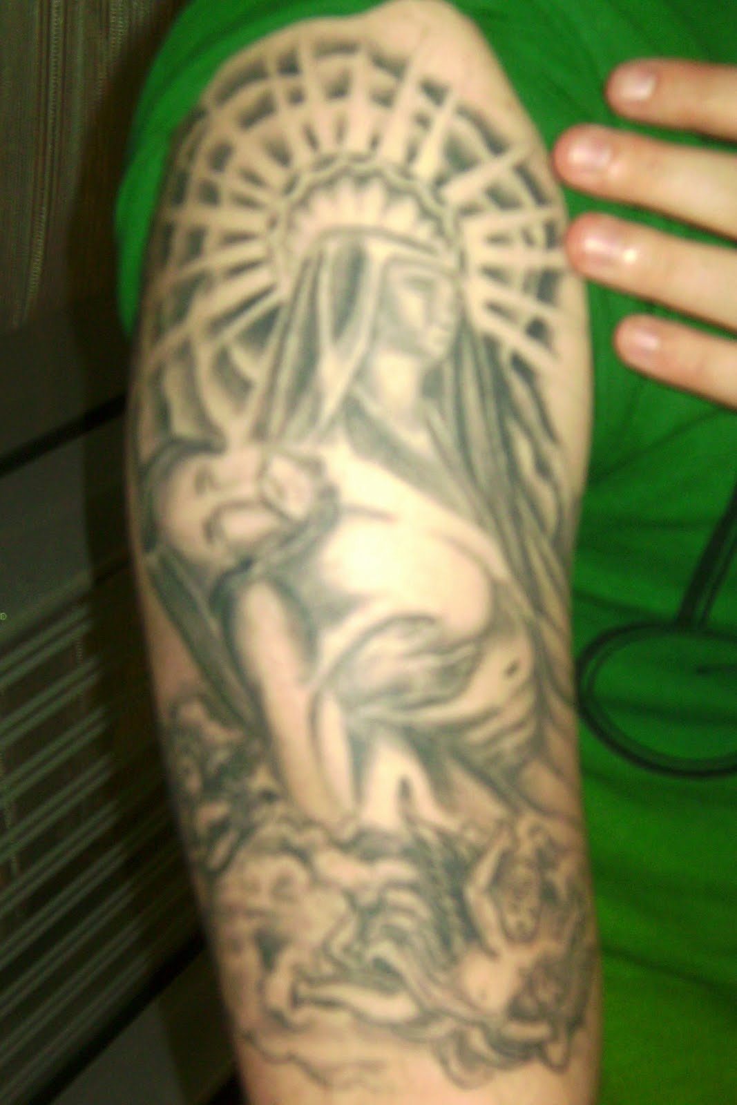 Guardian Angel Sleeve Tattoos