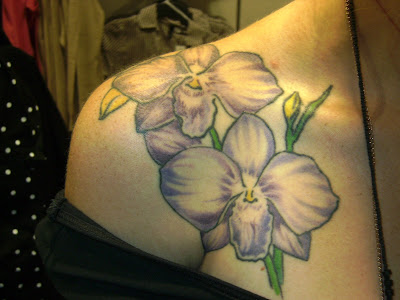 Tattoosday at the Mall, Part 2 - Michelle's Purple Orchids